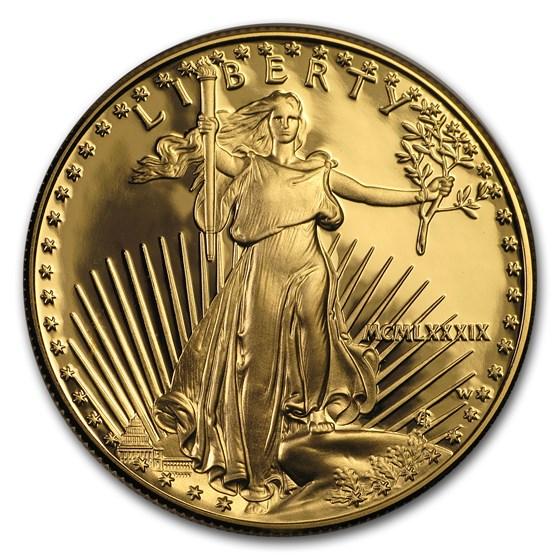1989-W 1 oz Proof American Gold Eagle (w/Box & COA)