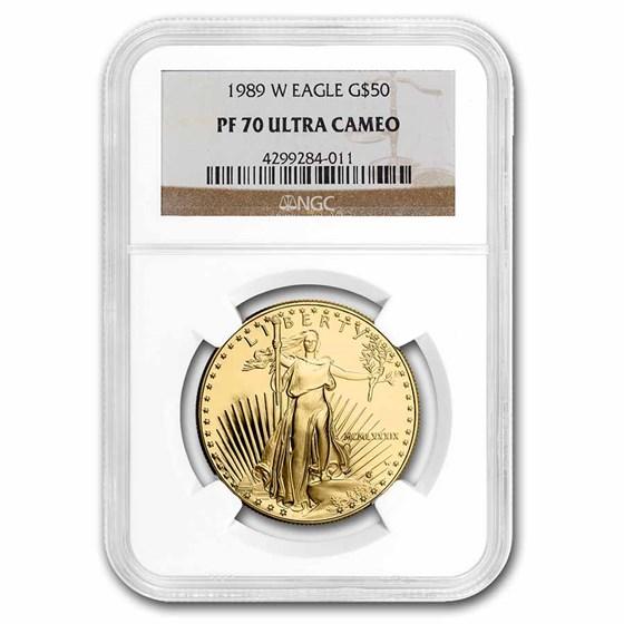 1989-W 1 oz Proof Gold American Eagle PF-70 NGC