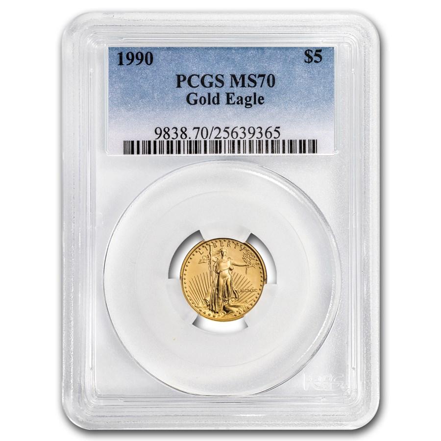 1990 1/10 oz American Gold Eagle MS-70 PCGS