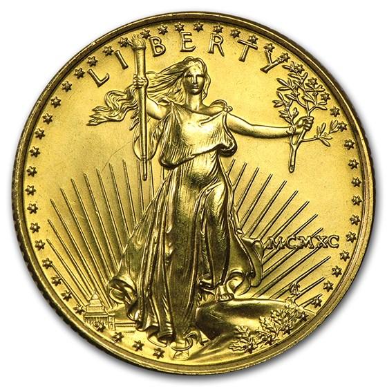 1990 1/4 oz American Gold Eagle BU (MCMXC)