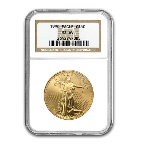 1990 1 oz American Gold Eagle MS-69 NGC