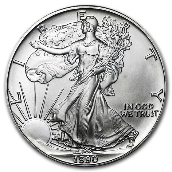 1990 1 oz American Silver Eagle BU