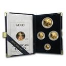1990 4-Coin Proof Gold American Eagle Set (w/Box & COA)
