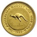 1990 Australia 1/20 oz Gold Nugget