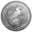 1990 Australia 1 oz Silver Kookaburra BU
