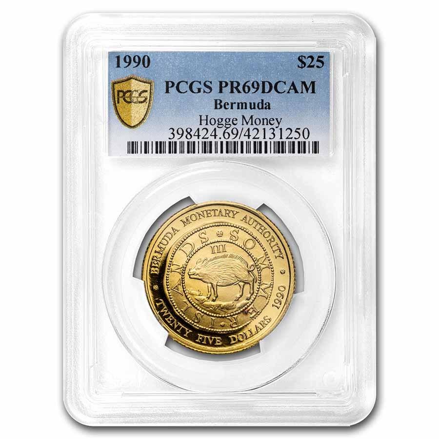 1990 Bermuda Gold $25 Hogge Money PR-69 PCGS