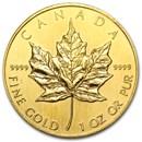 1990 Canada 1 oz Gold Maple Leaf BU