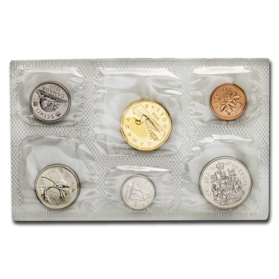 1990 Canada 6-Coin Proof Like Set