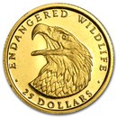 1990 Cook Islands Gold $25 Endangered Wildlife Proof