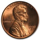 1990-D Lincoln Cent BU (Red)
