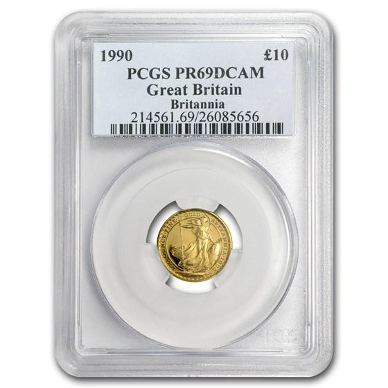 1990 Great Britain 1/10 oz Gold Britannia PR-69 PCGS
