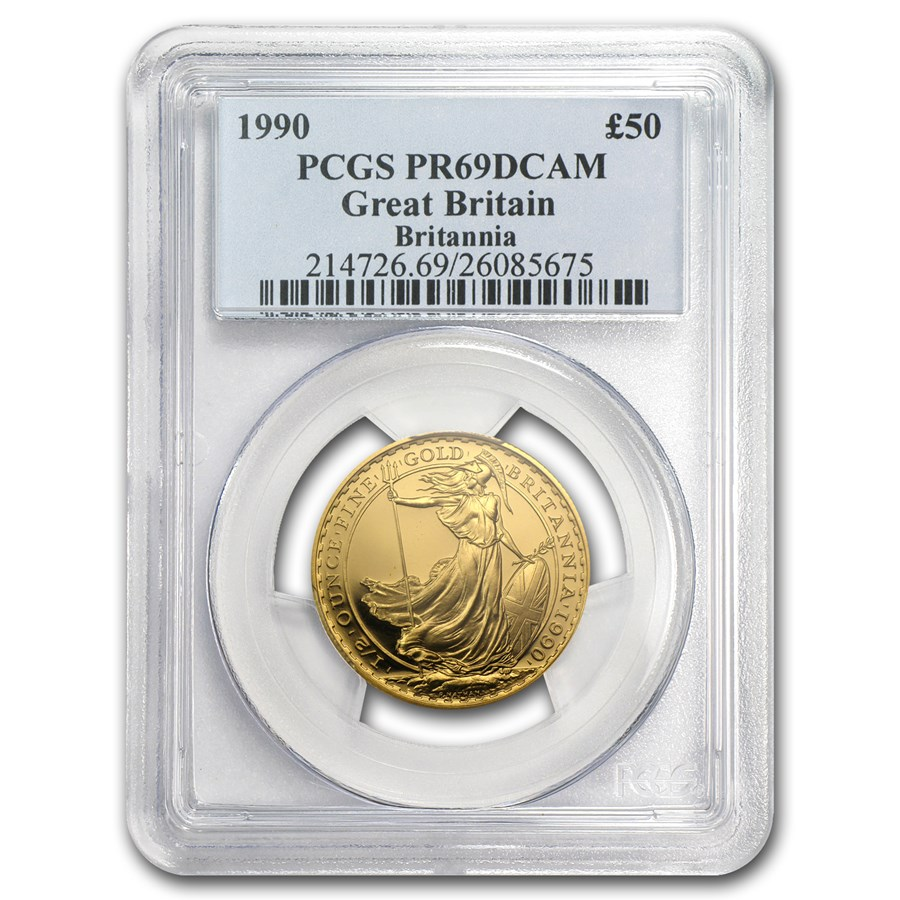 1990 Great Britain 1/2 oz Proof Gold Britannia PR-69 PCGS