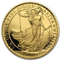 1990 Great Britain 1/4 oz Proof Gold Britannia