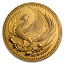 1990 Japan Gold 100K Yen Enthronement Emperor Akihito BU (Sealed)