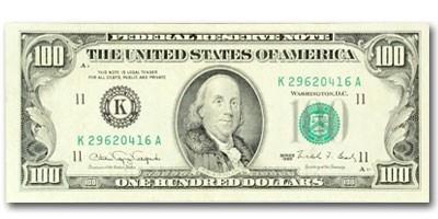 1990 (K-Dallas) $100 FRN CU