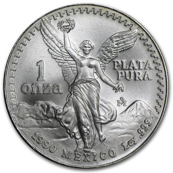 1990 Mexico 1 oz Silver Libertad BU