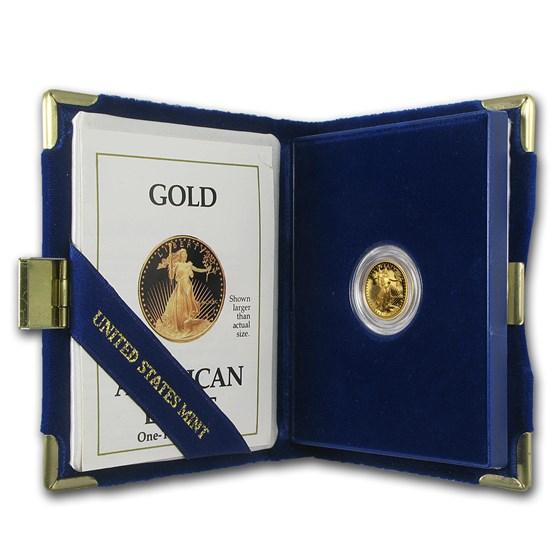 1990-P 1/10 oz Proof American Gold Eagle (w/Box & COA)