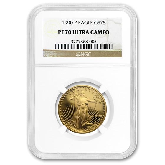 1990-P 1/2 oz Proof Gold American Eagle PF-70 NGC