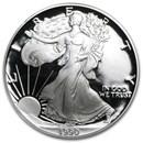 1990-S 1 oz Proof Silver American Eagle (w/Box & COA)