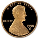 1990-S Lincoln Cent Gem Proof (Red)