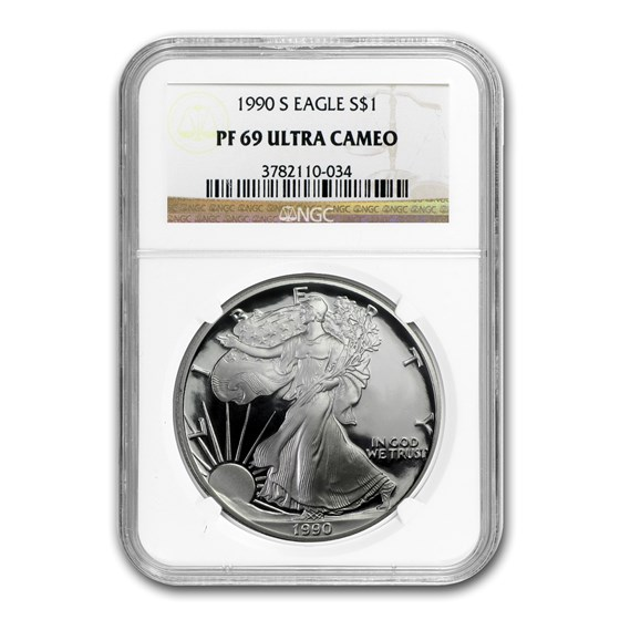 1990-S Proof American Silver Eagle PF-69 NGC