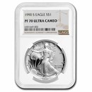 1990-S Proof American Silver Eagle PF-70 NGC