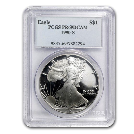 1990-S Proof American Silver Eagle PR-69 PCGS