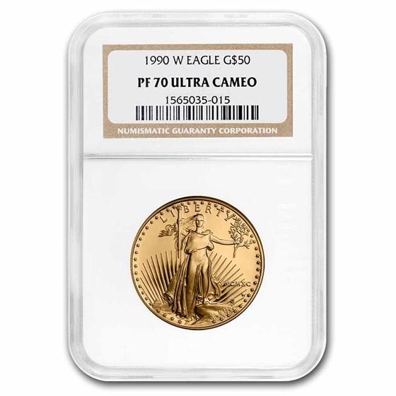 1990-W 1 oz Proof American Gold Eagle PF-70 UCAM NGC
