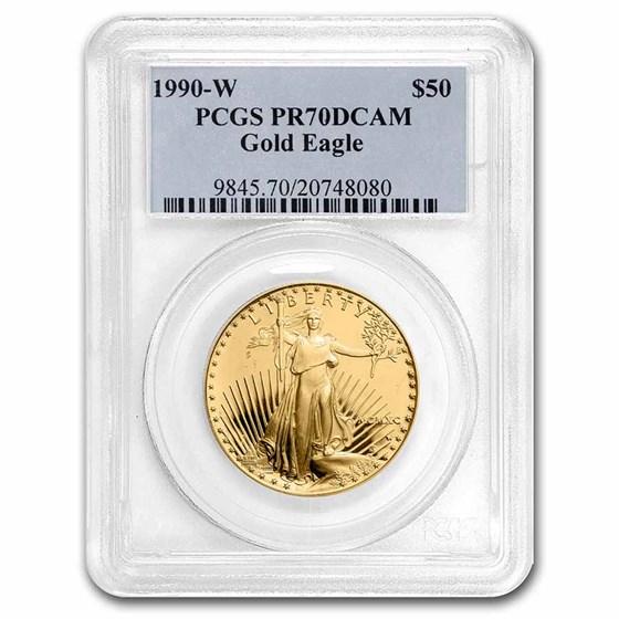 1990-W 1 oz Proof American Gold Eagle PR-70 PCGS
