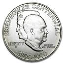 1990-W Eisenhower Centennial $1 Silver Commem BU (w/Box & COA)