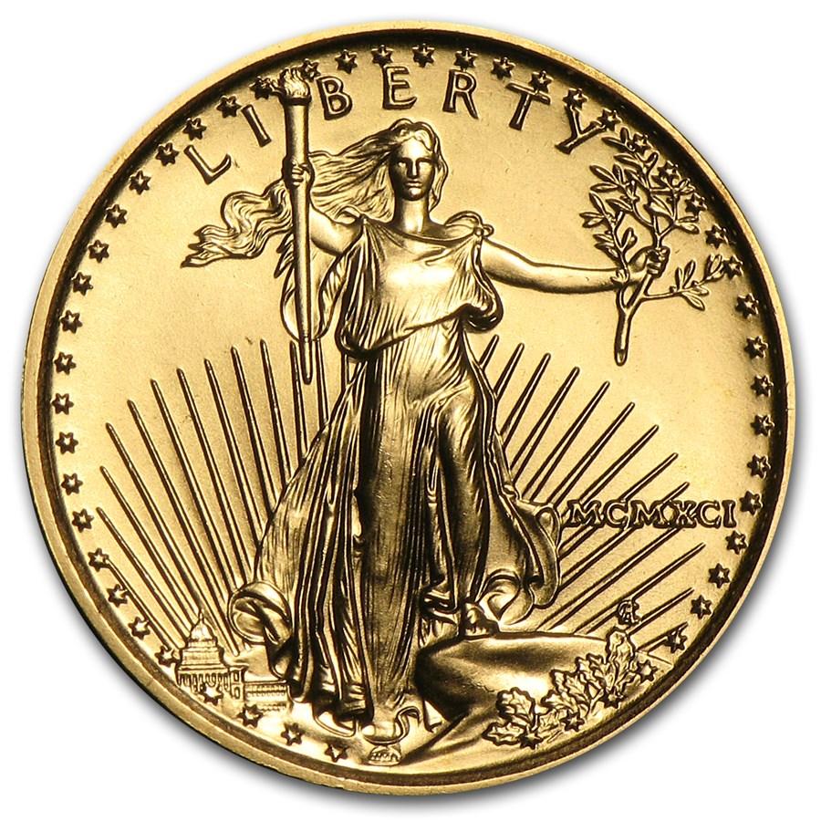 1991 1/10 oz American Gold Eagle BU (MCMXCI)