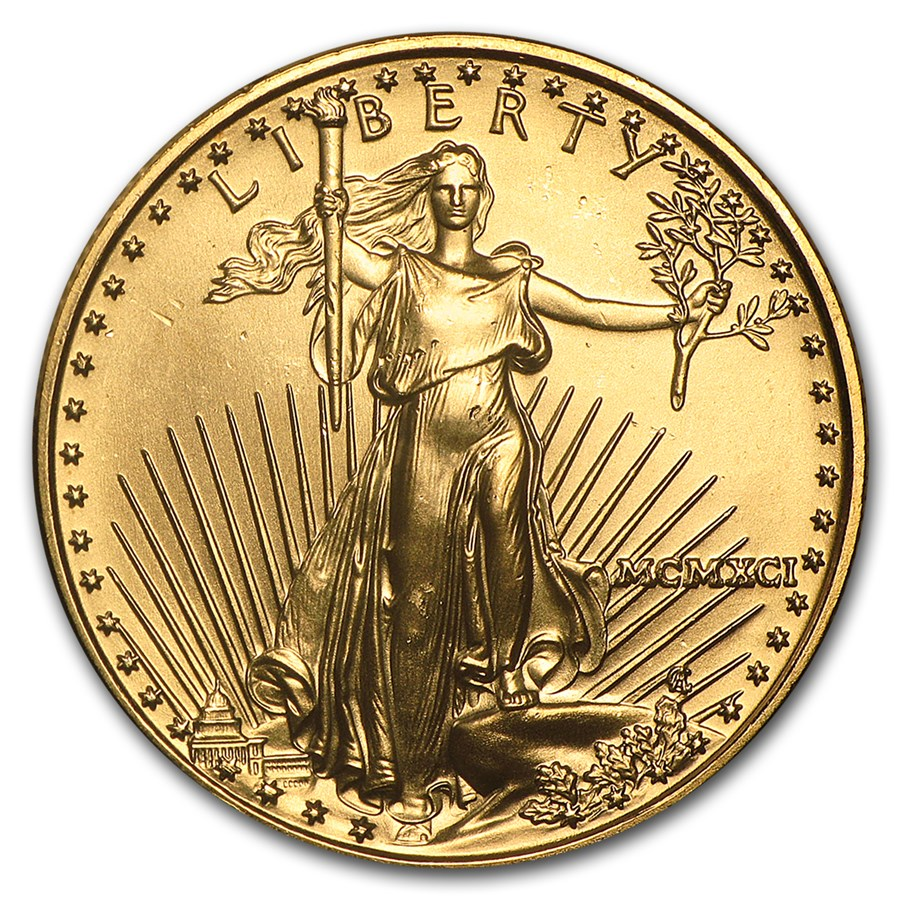 1991 1/2 oz American Gold Eagle BU (MCMXCI)