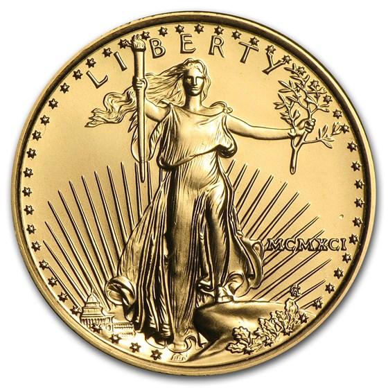 1991 1/4 oz American Gold Eagle BU (MCMXCI)
