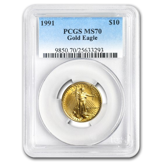 1991 1/4 oz American Gold Eagle MS-70 PCGS