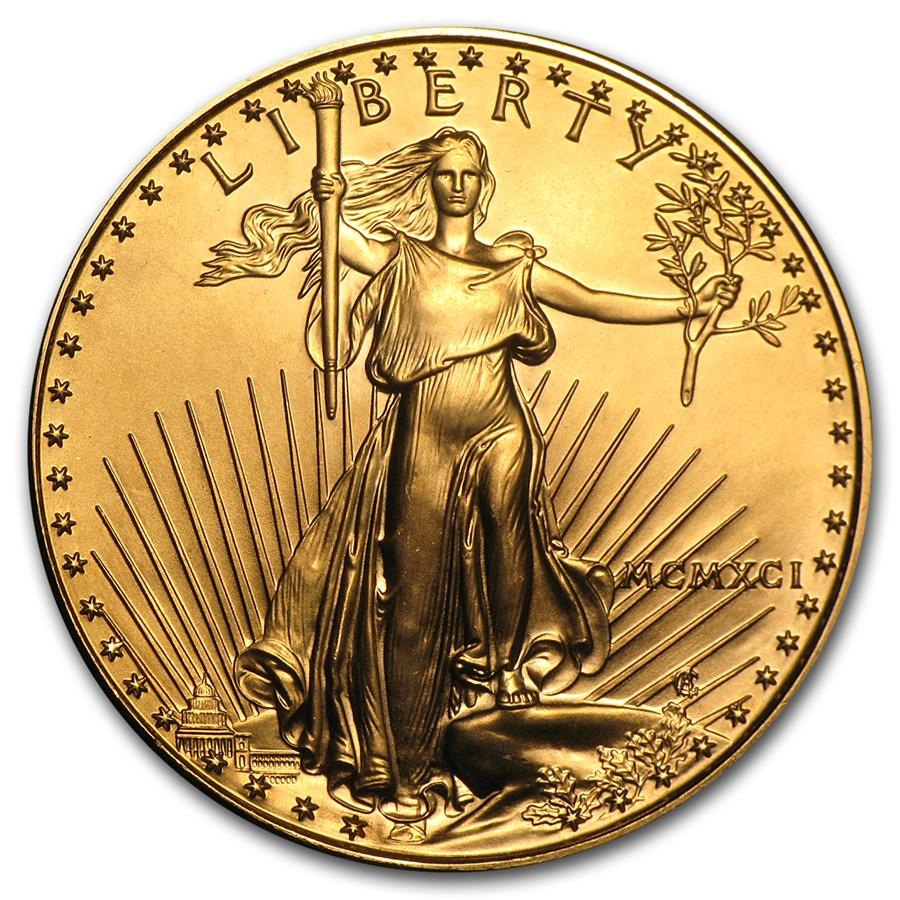 1991 1 oz American Gold Eagle BU (MCMXCI)