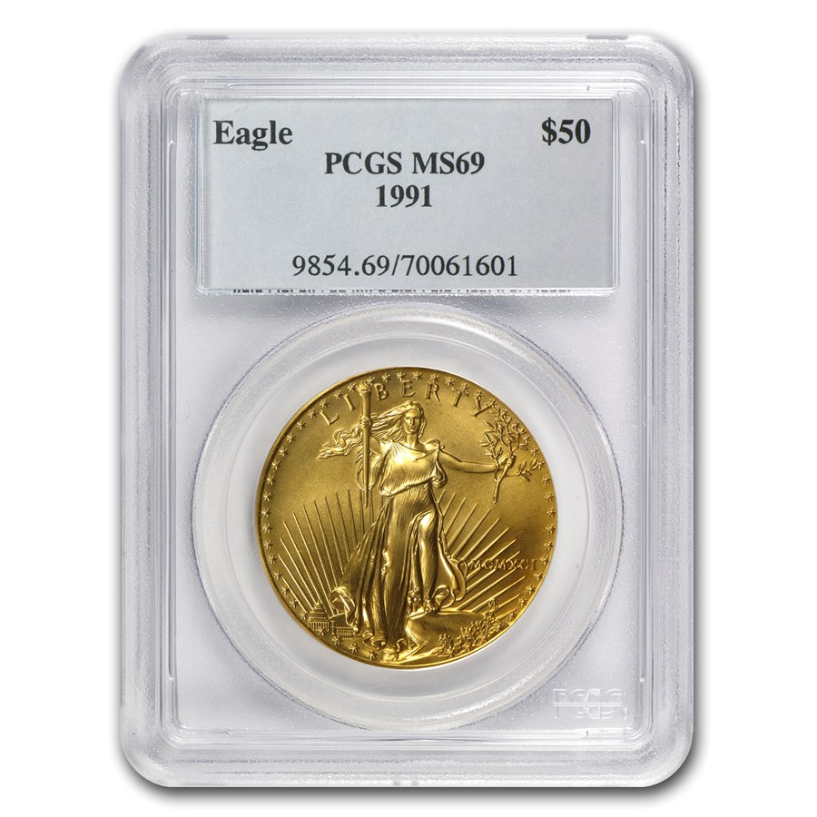 1991 1 oz American Gold Eagle MS-69 PCGS
