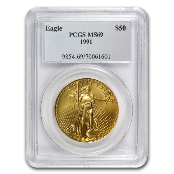 1991 1 oz Gold American Eagle MS-69 PCGS
