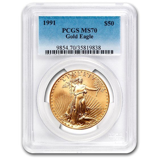 1991 1 oz Gold American Eagle MS-70 PCGS