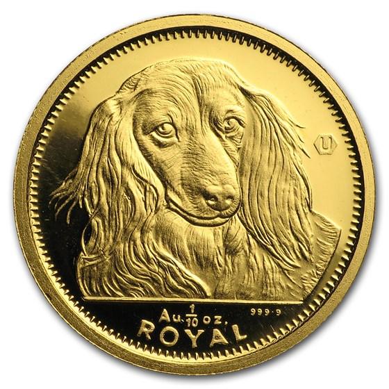 1991-1997 Gibraltar Gold 1/10 oz Dog (Random Dates)