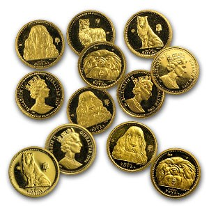 1991-1997 Gibraltar Gold 1/25 oz Dog BU/Proof (Random Year)