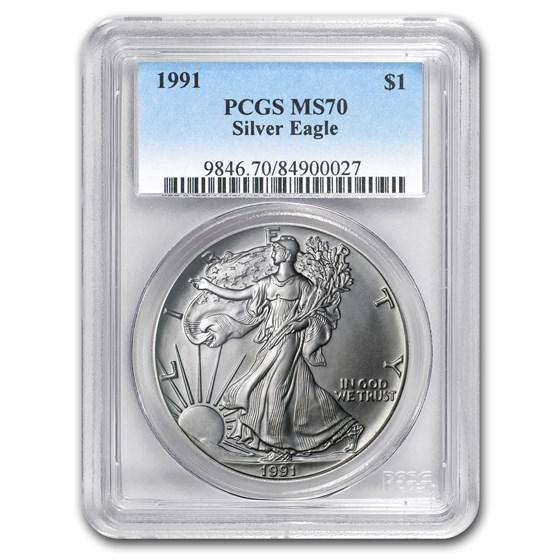 1991 American Silver Eagle MS-70 PCGS