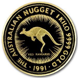 1991 Australia 1 kilo Gold Nugget BU