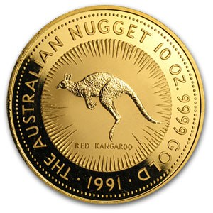 1991 Australia 10 oz Gold Nugget BU