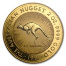1991 Australia 2 oz Gold Nugget BU