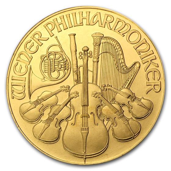 1991 Austria 1 oz Gold Philharmonic BU