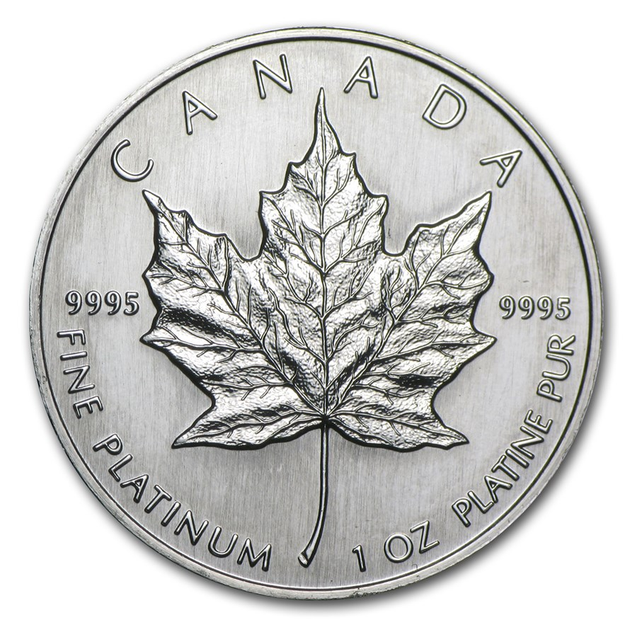 1991 Canada 1 oz Platinum Maple Leaf BU