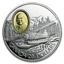 1991 Canada 1 oz Silver $20 The de Havilland Beaver
