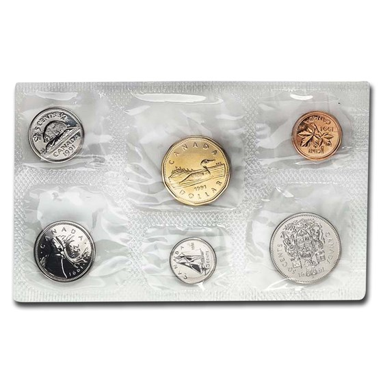 1991 Canada 6-Coin Proof Like Set