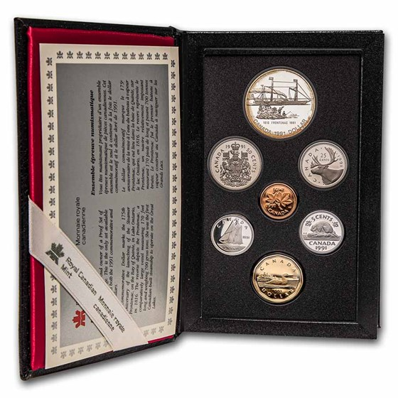 1991 Canada 7-Coin Double Dollar Proof Set
