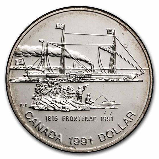 1991 Canada Silver Dollar BU (Frontenac)